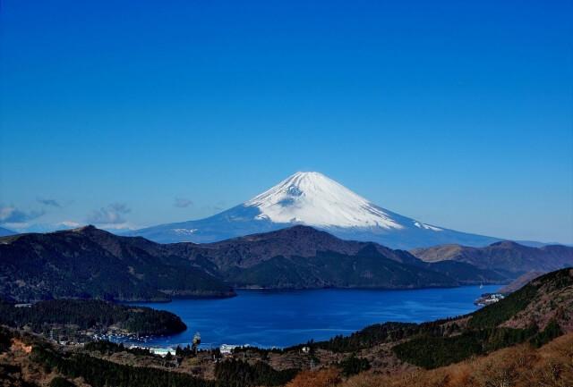 手ぶらキャンプ箱根からみた富士山