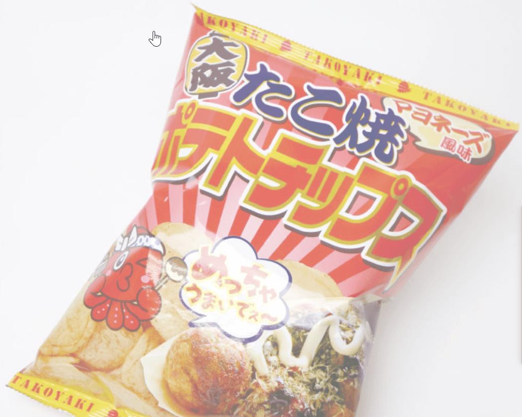 たこ焼きポテトチップス